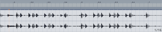 Track with live drummer in Ableton Live. Notice that the tempo is slightly out ...