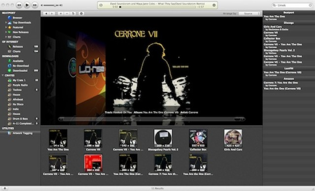 Missing album artwork is easy to find with beatler's built in artwokk tagging feature.