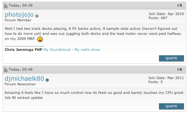 Traktor 2.5 performance comments