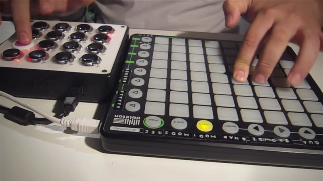 hands-onlaunchpad-midifighter