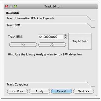 Mixx track editor