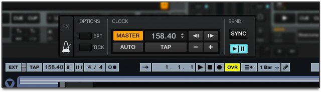 Traktor and Ableton sync clocks