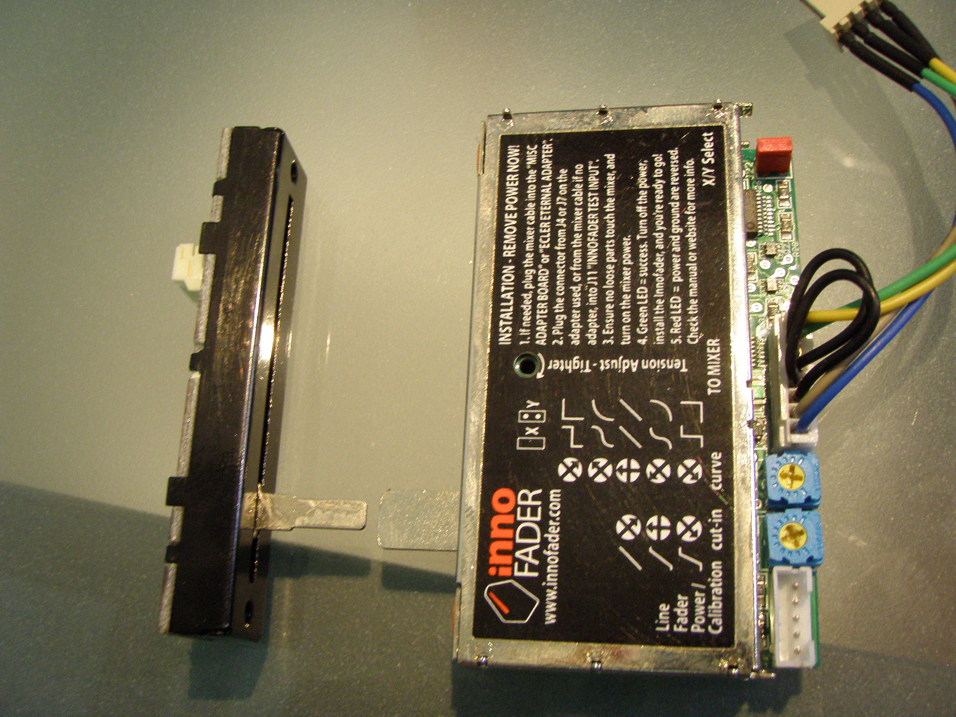 Z2 Fader (Left), Standard Long Body Innofader (Right)