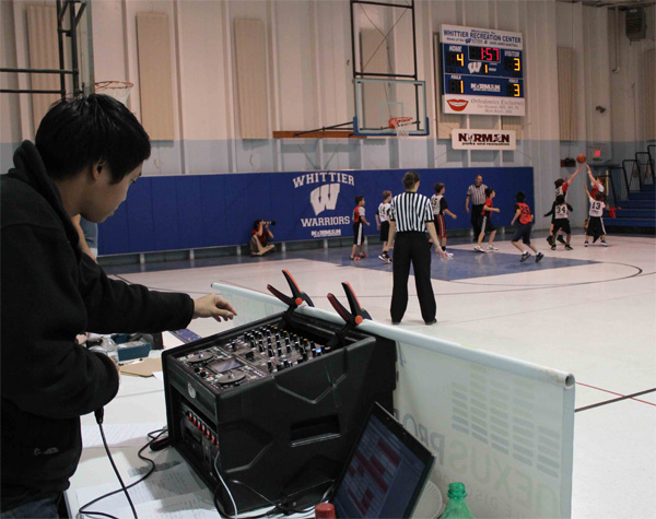 DJing a youth basketball game / photo: Nexus Productions