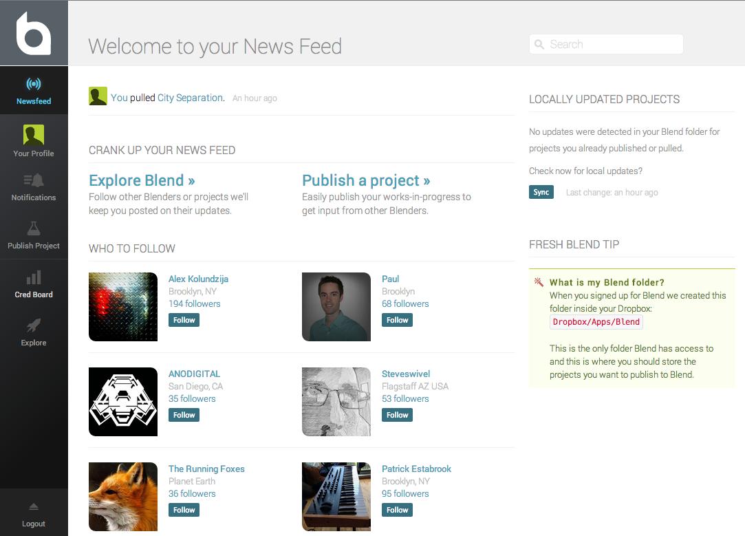 Blend.io News Feed