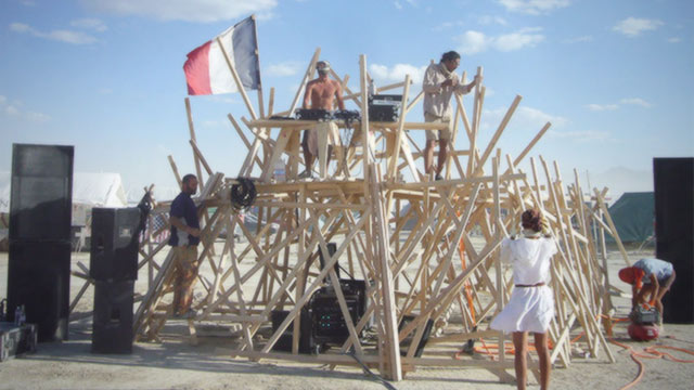 DJ Booth At Burning Man
