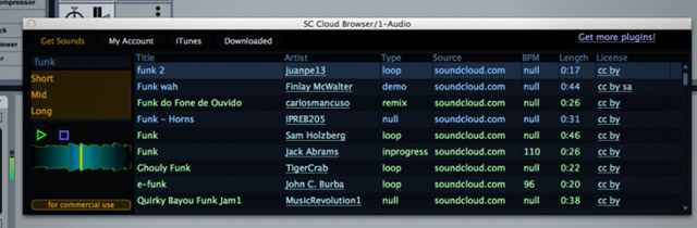 The SC Cloud Browser sits right in your DAW as a VST