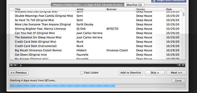 Trackhunter fetching the last four days of Deep House releases