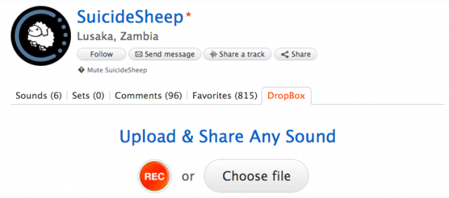 Some channels prefer to get all of their submissions via Soundcloud's dropbox