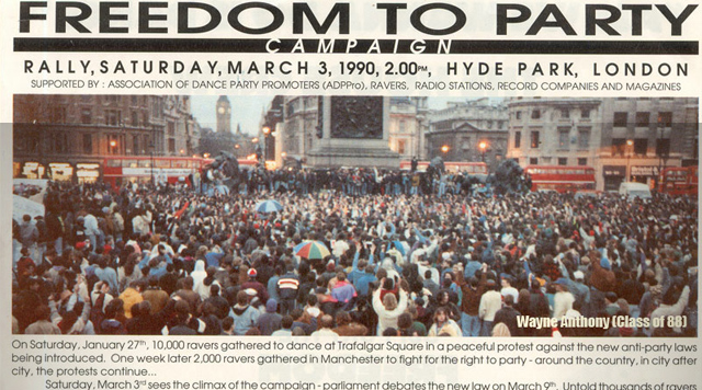 Freedom To Party flier