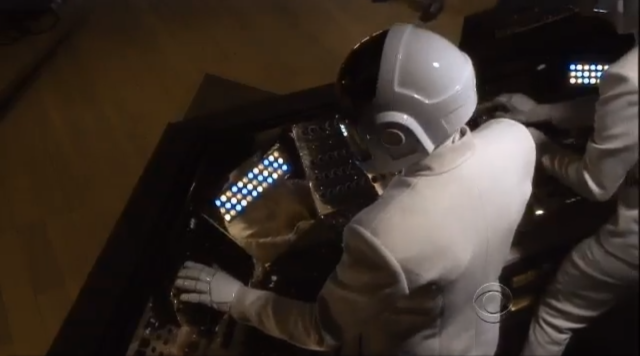 In the booth with Daft Punk at the 2014 Grammys