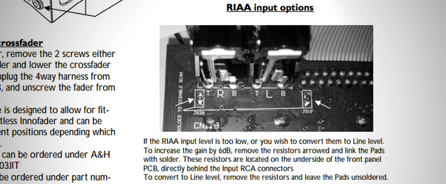 From the official user manual: switch to line levels on the phono inputs