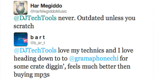 Very differing opinions on vinyls amongst DJs