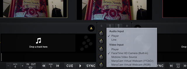 Live inputs are an option for video!