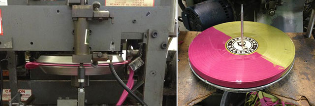Record presses hard at work at United Record Pressing (photo credit: URP's Facebook page)