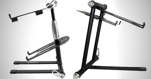 Two very similar DJ stands
