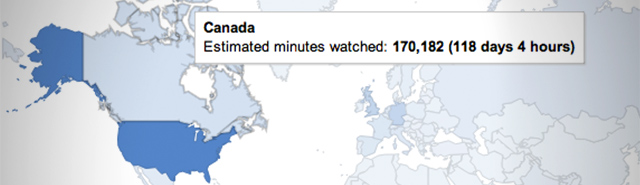 YouTube's location-based analytics