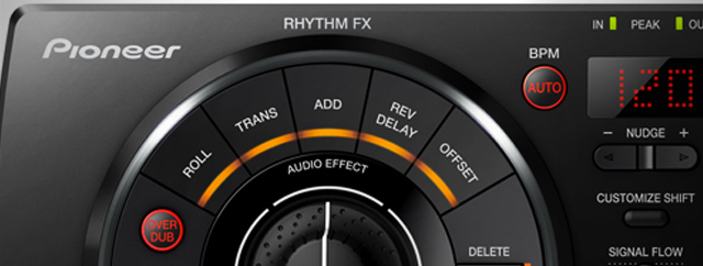 Rhythm FX - pretty standard Pioneer offerings.