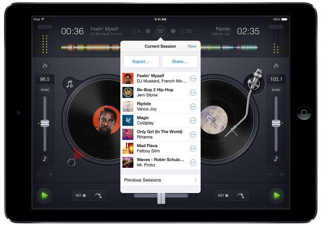 djay + Spotify Sharing
