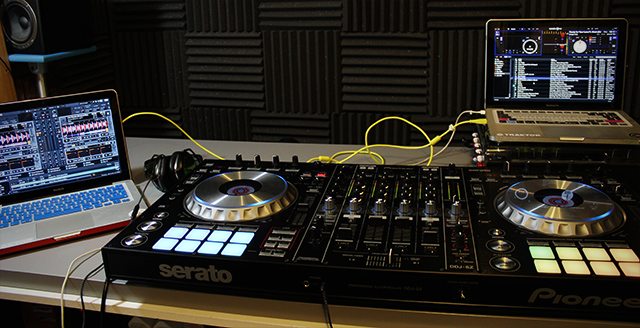 The Pioneer DDJ-SZ on the review table