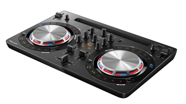 Pioneer offers the DDJ-WeGO3 for entry level and beginner DJs.