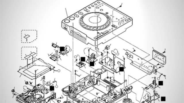 pioneer-cdj-exploded-view