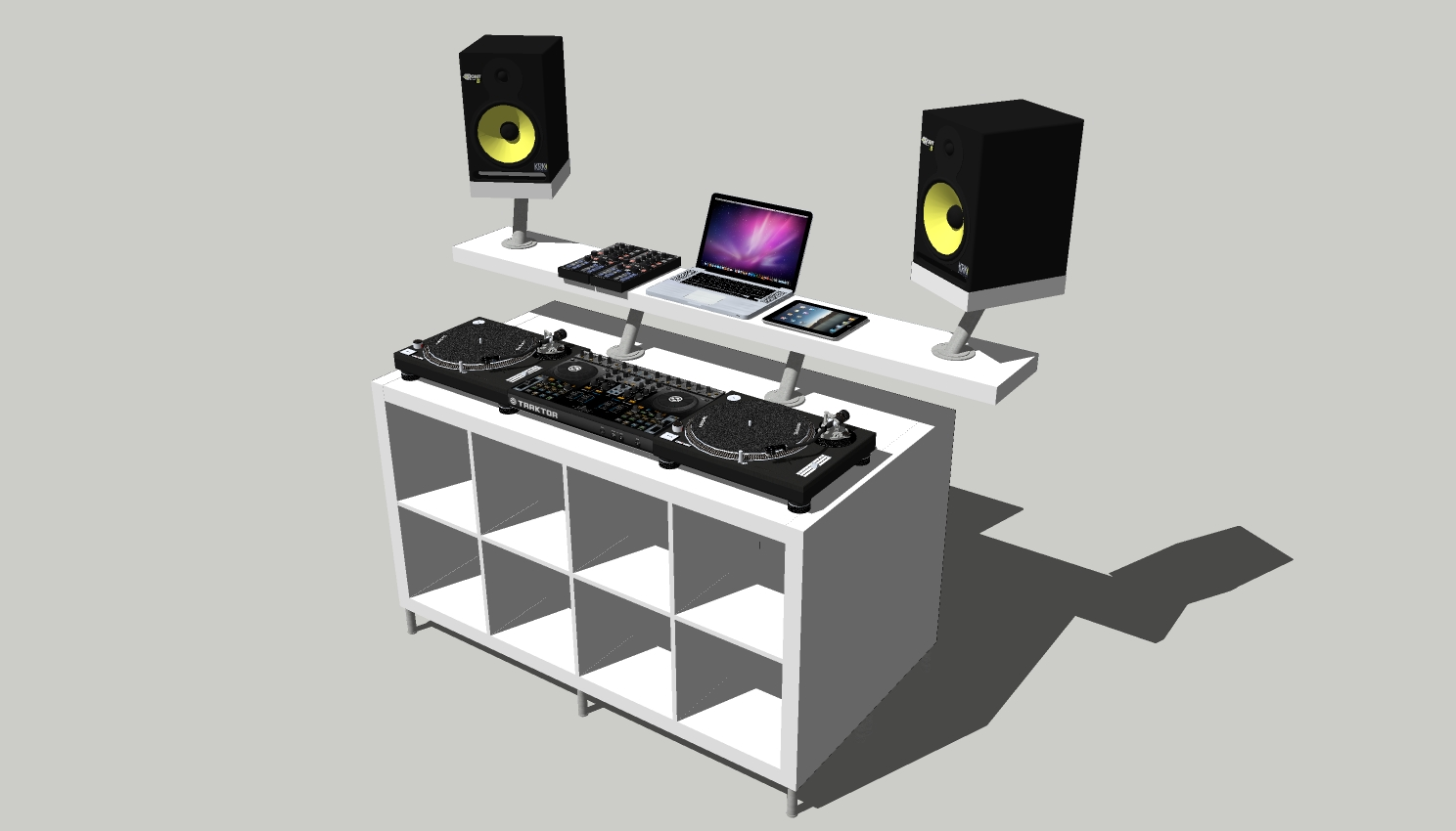 how to create a professional dj booth from ikea parts dj techtools. Black Bedroom Furniture Sets. Home Design Ideas