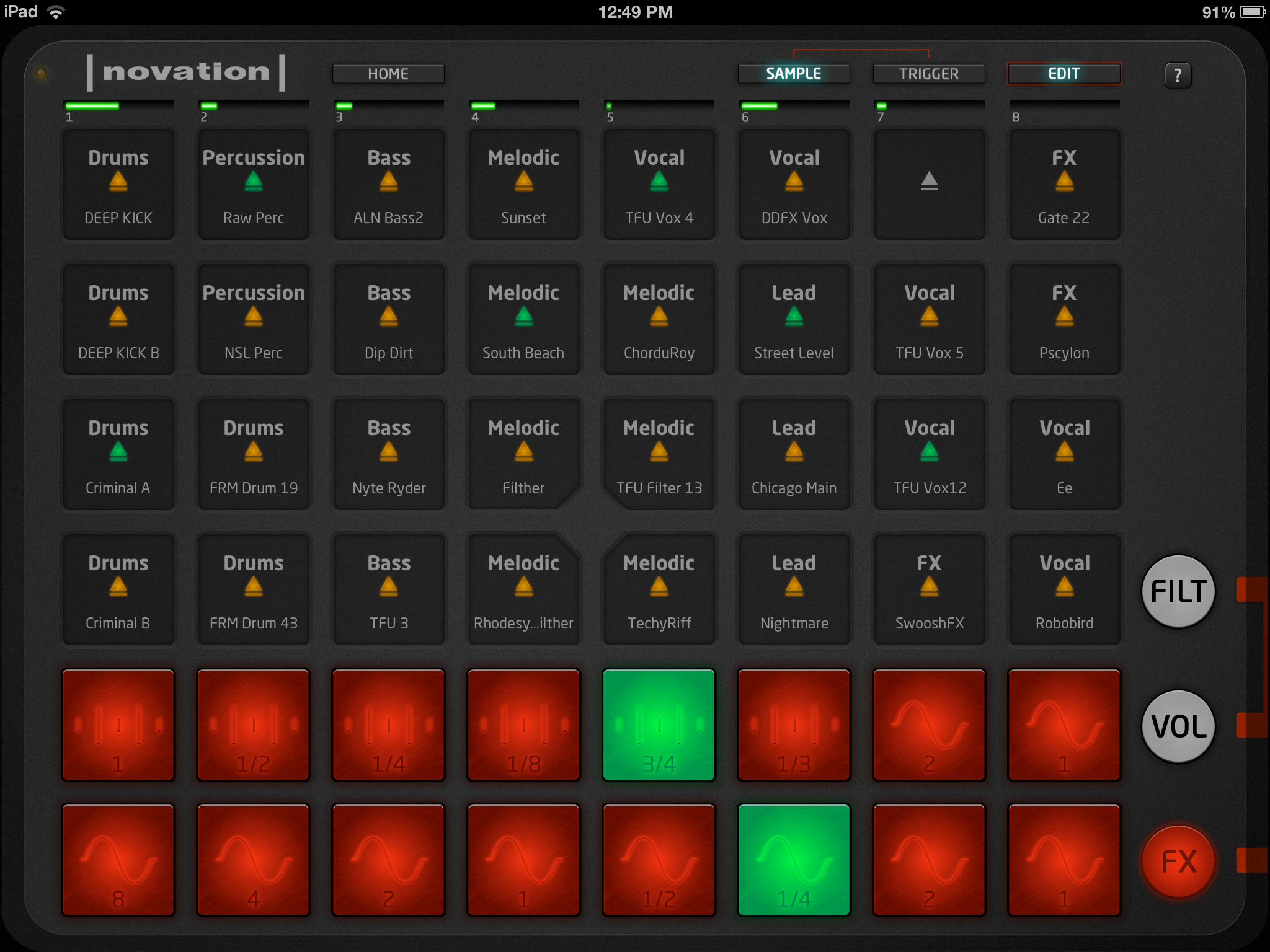 review novation launchpad and launchkey ipad apps dj techtools. Black Bedroom Furniture Sets. Home Design Ideas