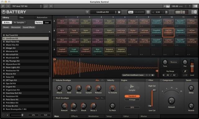 Editing and customizing kits in ni battery 4: ask. Audio.