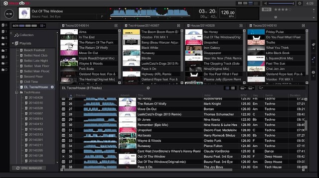 Rekordbox Playlist Pallete